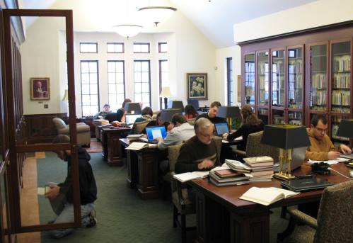 Researchers in the Wade Center Reading Room.