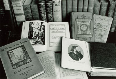 Books from the Wade's collections.