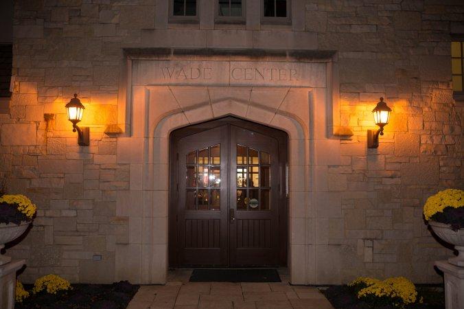 Wade Center front door