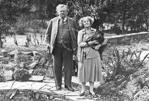 Gilbert and Frances, 1930. This photo is property of the Marion E. Wade Center and may not be used without permission.