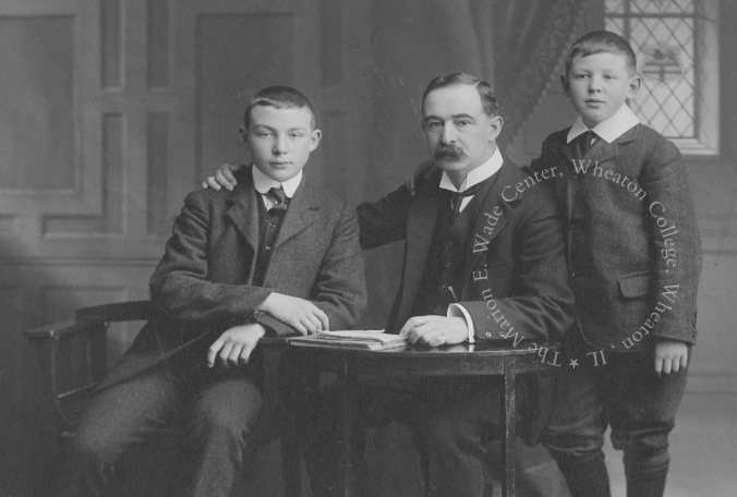 Warren, Albert, and C.S. Lewis, ca. 1908.