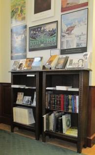 Bookshelves side view