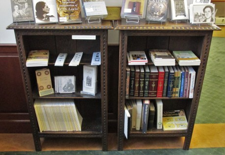 Bookshelves front view