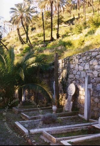 The cemetery in Bordighera where MacDonald is buried. Photographer Association Culturelle Bordighera. Wade Center Location File, Series 8.4 folder 1.