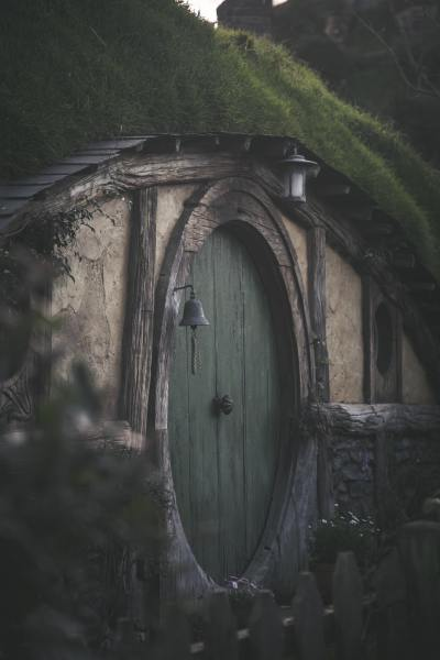 Door to Bag End, shadowy